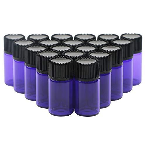 Tragbare Mini-Glasfläschchen mit Reduzieröffnung für ätherische Öle, Diffusor für Aromatherapie, Parfüm, 20 Stück
