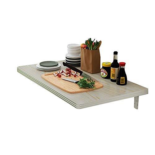 FUFU Beistelltische Küchentisch  Klappbare Wandhalterung Malen Sie Computertisch Küche schwimmenden Tisch Home Esstisch Wohnzimmer Floating Desk Werkstatt-Werkbank Nähtisch Tische (Size : 120×50cm)