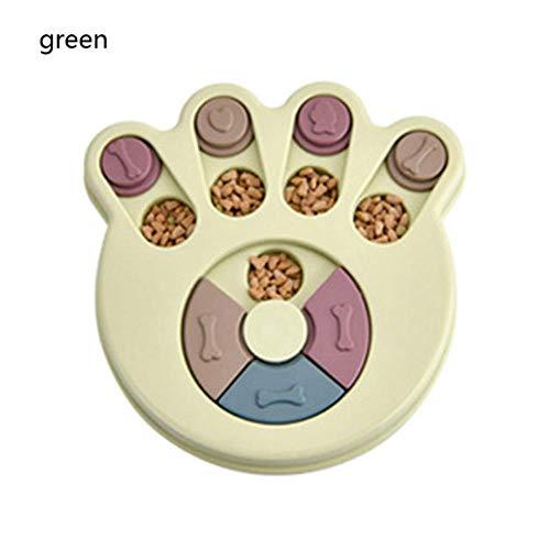 DIF hond speelgoed huisdier kom voedsel dispenser kat training tools Anti Choke voetafdruk ontwerp hond puzzel Platter