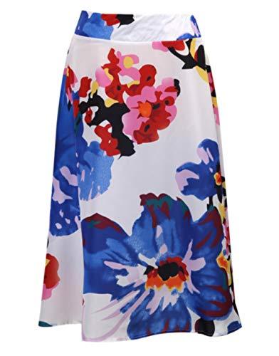 Mstr - Mini falda plisada con estampado floral retro para mujer multicolor 48