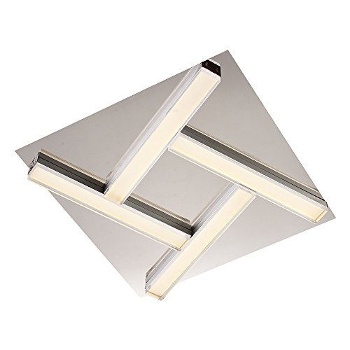Style home X48022 4W4 Hoch Qualität LED Deckenlampe Lampada da soffitto 16 W, Argento