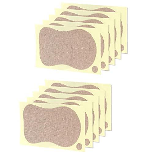 NiceJoy cojín del Sudor Pegatinas toallitas antitranspirantes para Las Axilas de Las Axilas Desodorante Damas Ropa de Verano Camiseta de 10 Piezas