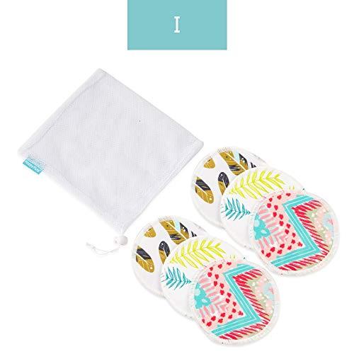 NoBrand Bambou Coussinets d'allaitement du Sein Pad for La Maman Lavable Étanche Alimentation Pad Bambou Réutilisables Coussinets d'allaitement avec Sac À Linge (Color : I Nursing Pads)
