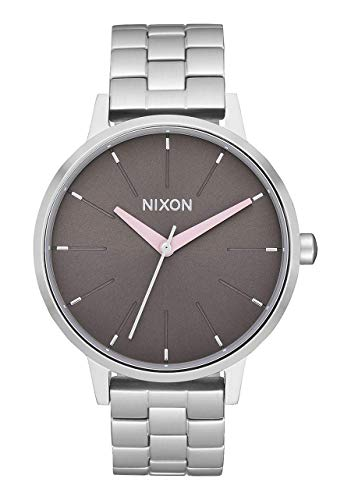 NIXON Kensington A099 - Silver/Gray/Pale Pink - 50m Water Resistant Women's Analog Classic Watch (37mm Watch Face, 16mm Stainless Steel Band)