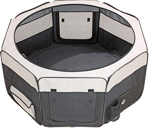 Karlie - Smart Top Lounge / 31365 - Enclos - Gris/noir - 74 x 74 x 35 cm