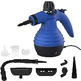Comforday-Dampfreiniger als Handgerät mit 9 Zubehörteilen für Fleckenentfernung, Bedampfung, Teppiche, Vorhänge, Autositze, Küchenoberflächen & vieles mehr