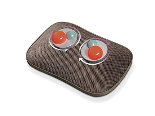 Beurer MG 147 Massagekissen, Rücken-Nacken-Massagegerät, Wärmefunktion, mit Handschalter, 4 Massageköpfe