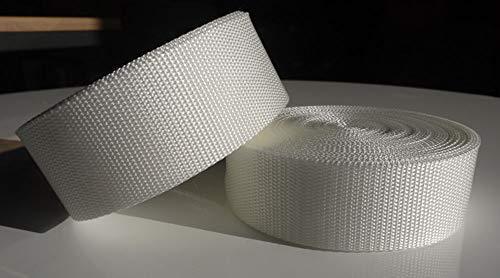 GGM 10m PP Gurtband - 50mm breit - 1,4mm stark - weiß (UV)