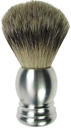Fantasia Blaireau à raser en aluminium pur avec toit en pin argenté Diamètre 21,5 mm Hauteur 10 cm 108 g