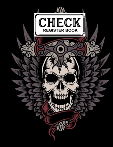 Check Register Book: Check Register Book Skull With Cross Cover, Check and Debit Card Register 120 Pages, Size 8.5