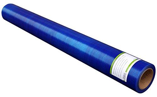 Colorus Premium Glasschutzfolie 100 cm x 100 m   Fensterschutzfolie selbstklebend blau 50 my   Oberflächenschutzfolie selbsthaftend   Selbstklebende PE-Folie UV beständig   Malerschutzfolie