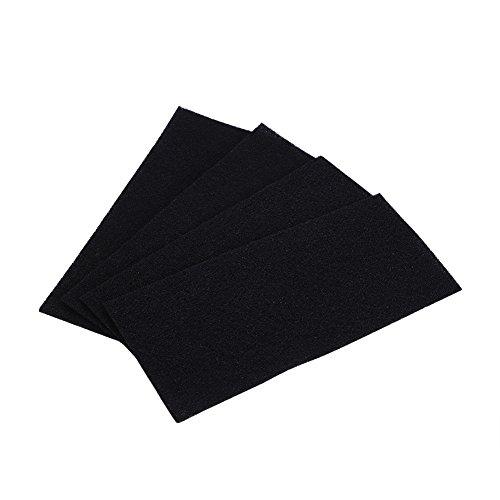 4 Stücke Aktivkohlefilter Aktiviert Pad Universal Aktivkohle Schwamm Filter Carbon Schwamm Filterschaum Blatt für geruchsfreie Küche