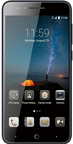 ZTE Blade A612 Smartphone (12,7 cm (5 Zoll) HD IPS Display, 16GB, 13MP Kamera, Android 7.0) dunkelblau