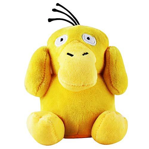 POOMALL Juguete de felpa Cortar los animales de peluche juguete de la mujer Almohada Almohada Cuerpo Cuello Almohada, 15CM Psyduck bolsillo pato rellena felpa suave muñeca de la historieta del animado