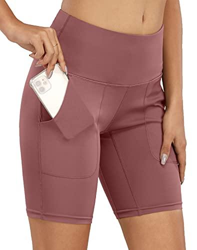 scicent Pantalones cortos de deporte para mujer, de un solo color, sueltos, tallas 32, 34, 36, 38, 40, 42, 44, 46, 48, Rosa., 44 ES/46 ES