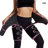 Waist Trainer for Women - High Waist Ultra Light Butt Lifter Shaper Thigh Trimmers with Adjustable Belt   Hip Enhancer Invisible Lift Shapewear for Workout,Fitness,Training