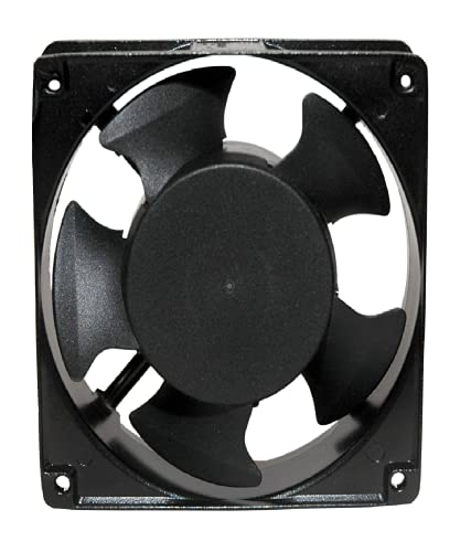 MAA-KU AC Axial Cooling Blower Exhaust Rotary Fan, Size : 4.75'' inches (12x12x3.8cm),Black', 12 cm (AC12038K)