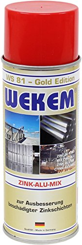 Preisvergleich Produktbild 6x 400ml Wekem Zink-Alu-Mix WS81