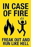 火事の場合 金属板ブリキ看板警告サイン注意サイン表示パネル情報サイン金属安全サイン