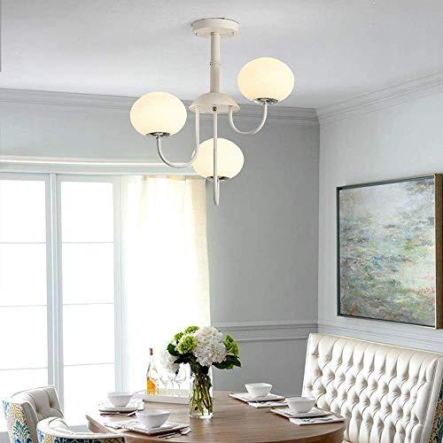 Hanglamp Driekleurig Dimmen Diameter 55 * 52 cm Wit Eenvoudige Glas Bal Plafond Lamp Woonkamer Eetkamer Kroonluchter 3 Lampje