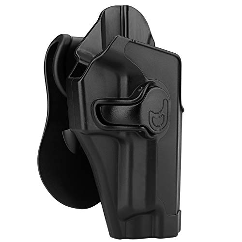 """Polymer OWB Holster for Sig Sauer P220 P226 4.4"""" Full Size/Bersa Thunder 9 Pro - Index Finger Released 
