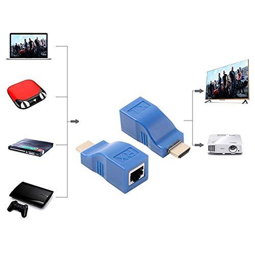 MeterMall Pair 4K HDMI Extender Mini RJ45-poort 30m HDMI Extension CAT 5e / 6 UTP LAN Ethernet Kabel Converter voor HDTV