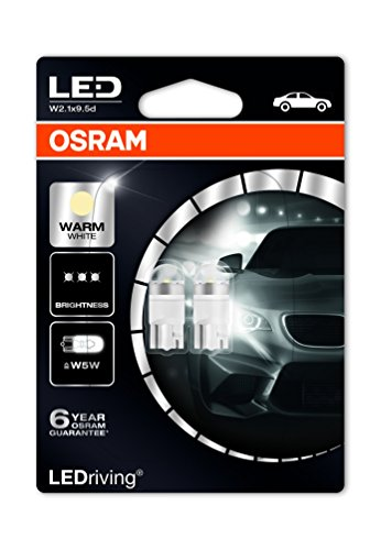 Osram 2850WW-02B LEDriving LED Retrofit W5W Luz de interior 4000K 80%, Blister Doble