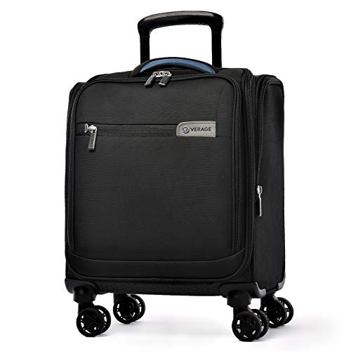 Carry On Underseat Luggage with USB Port, Underseater Rolling Spinner Luggage ,14.5 inches Softside Suitcase Airline Approved