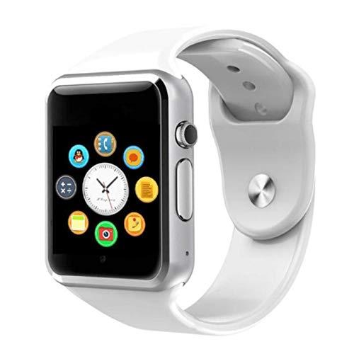 XXY Smart Watch Clock Sync Notifier Admite La Conectividad De La Tarjeta SIM TF para para Apple iPhone Android Phone SmartWatch (Color : White)