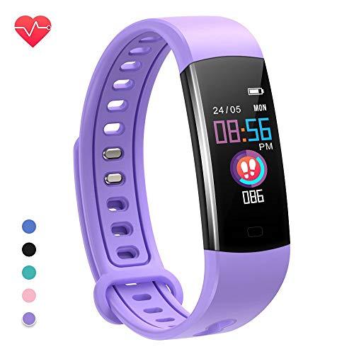 moreFit Fitness Tracker Kinder, Schrittzähler Uhr Fitness Armband mit Pulsmesser Schlafmonitor Stoppuhren Kalorienzähler Wasserdicht IP67 GPS Fitness Uhr Aktivitätstracker für Damen Herren Kinder