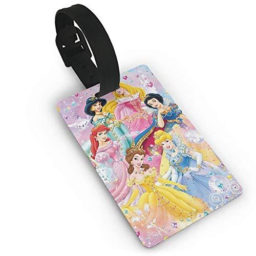 DNBCJJ Etiquetas de equipaje para maletas Princesa etiqueta de equipaje, con nombre ID maleta para mujeres, hombres, niños, accesorios de viaje