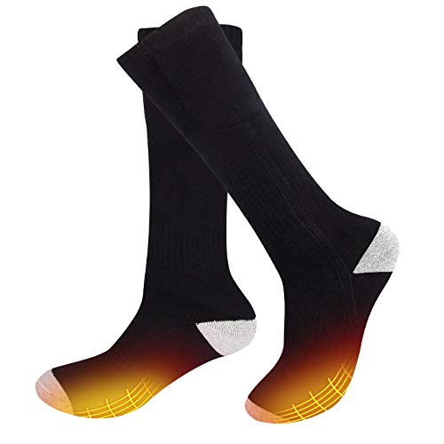 Bilisder Rechargeable Electric Heated Socks 2200mAh Battery Heated Warm Socks for Men and Women for Sport Outdoor Camping Hiking