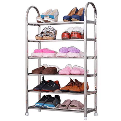 HUIFANG Support De Stockage De Pantoufles De Balcon Pliable Ménage Combinaison En Acier Inoxydable Simple Étagère À Chaussures Multicouche HUIFANG (taille : XL(6))