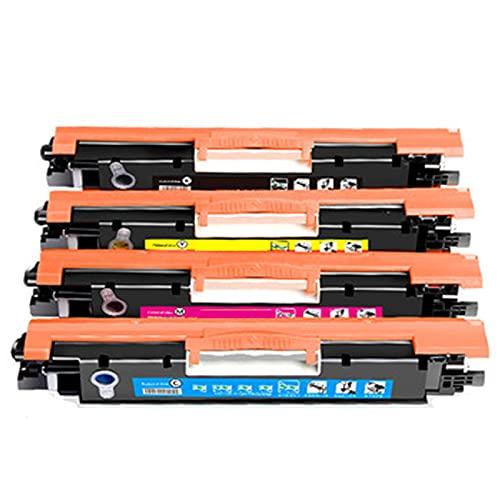 XIGU Compatible para el reemplazo del Cartucho de tóner HP CE310A para HP Laserjet Pro CP1025 1025NW M175 275 Impresora, Escuela de Oficina Impresión Suave Partido Precis Combination