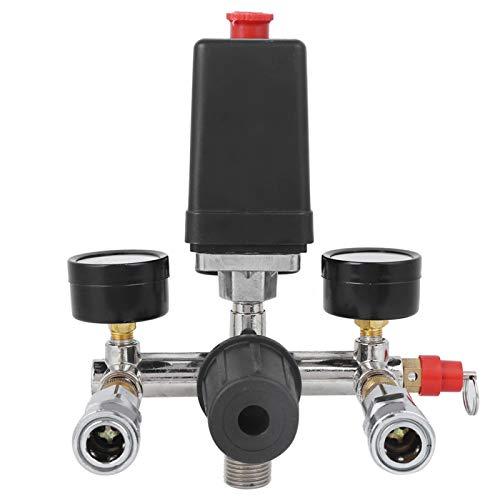 Válvula de interruptor de control de presión del compresor de aire, conjunto de soporte del compresor de aire Válvula de interruptor de control de presión Regulador del colector fr Bama