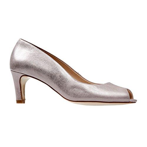 Van Dal Norton, Damen Peeptoe Ballerinas,Silber/Rose Gold, 39 EU (6 UK)