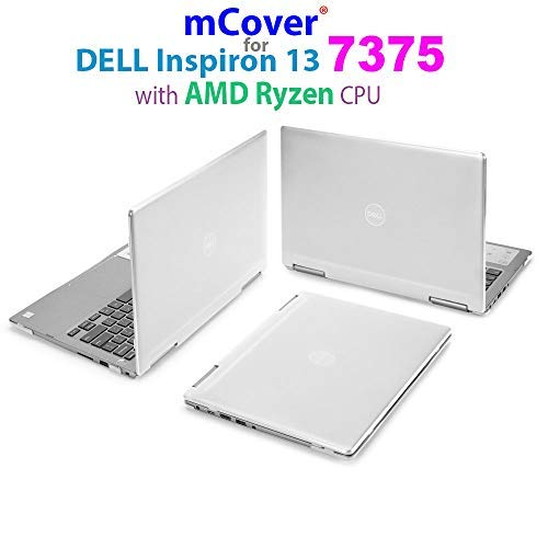 mCover Hard Shell Case for 13.3' Dell Inspiron 13 7375 (with AMD Ryzen CPU) 2-in-1 Convertible Laptop Computers (Dell I13-7375-AMD Clear)