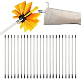 """30 Feet Dryer Vent Cleaner Kit Dryer Duct Cleaning Kit 30ft Dryer Vent Clean Brush Set with 23 Flexible Nylon Rods, 4"""" Durable Nylon Brush Head and a Storage Bag, Works with or Without Power Drill"""
