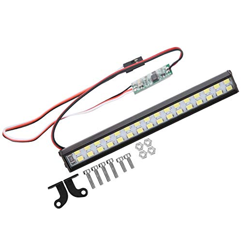 Dilwe RC Car Dachleuchte, 32 Stück Lampenperlen Universal RC Car LED Lichtleiste RC Crawler Upgrade Zubehör Länge 100mm