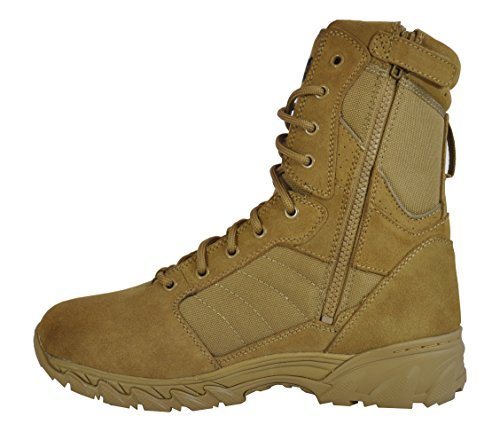 Smith & Wesson Footwear Men's Breach 2.0 Tactical Size Zip Boots, Coyote, 11.5