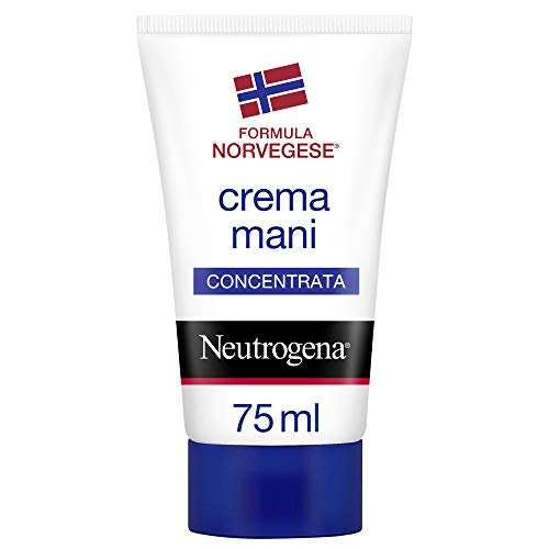 Neutrogena, Crema Mani, Concentrata, Sollievo Immediato, Mani Screpolate e Secche, 75ml
