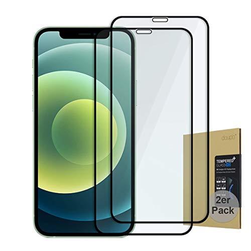 doupi [2 Stück Panzerfolie für iPhone 12 Mini (5,4 Zoll), Preimium 9H Hartglas HD Panzer Display Schutz Glasfolie (2er Pack)