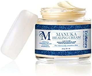 Manuka Healing Cream - Skin Repair Formula - Active UMF 12+ New Zealand Manuka Honey - Certified ACTIValoe + 21 Certified Organic Ingredients - Ideal for Nursing Moms!
