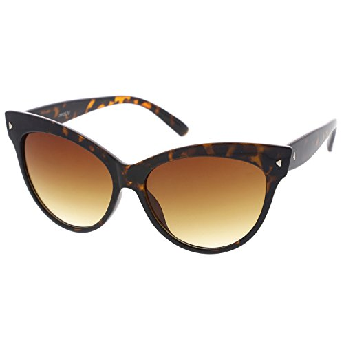 zeroUV - Oversize Vintage Mod Womens Fashion Cat Eye Sunglasses 59mm (Tortoise)