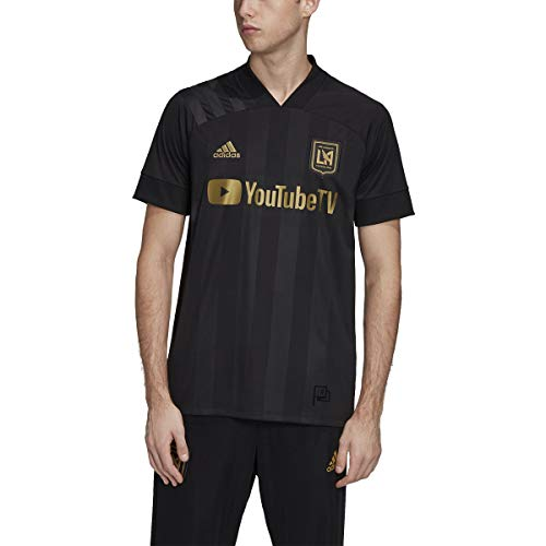 adidas Men's LAFC Home Soccer Jersey 2020/21 (Small) Black