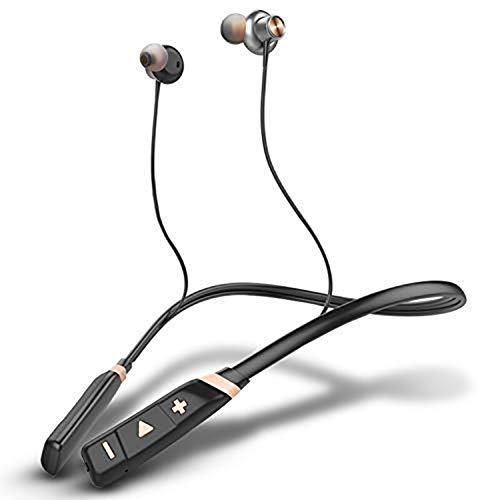 Audio In Ear Sport Bluetooth koptelefoon, Bluetooth 4.1 nekbeugel-koptelefoon in-ear oortelefoon 8 uur speeltijd, CVC 6.0 ruisonderdrukking microfoon, magnetische besturing