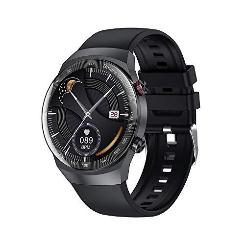 TYOP Smart Watch, Music Smart Pedómetro Cronómetro, Sueño Bluetooth Call Sports Pulsera, Dial de Espera en Espera ultralong