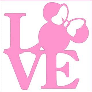 CCI Love Minnie Mouse Disney Decal Vinyl Sticker|Cars Trucks Vans Walls Laptop|Pink|5.5 x 5.5 in|CCI2095