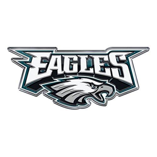 FANMATS NFL Philadelphia Eagles Alternative Color Logo Emblem, Silver, One Size