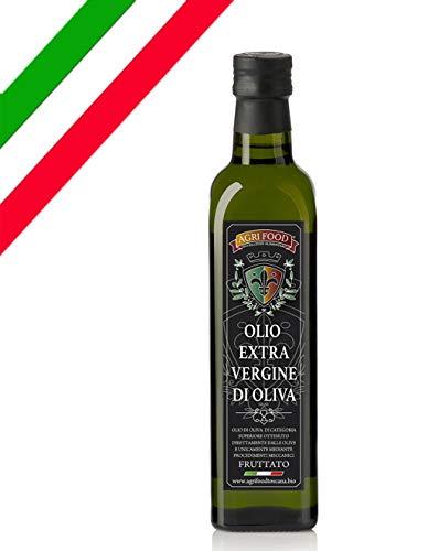 Olio Extra Vergine D'Oliva Agrifood 'ORO' grezzo fruttato ITALIANO Prima Spremitura a Freddo, Ultimo RACCOLTO (0,75 Litri)